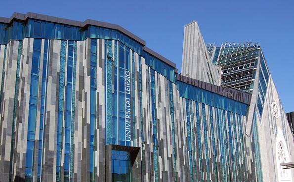 Ein ebenso ungewöhnlicher wie moderner Bau: die Universität Leipzig.