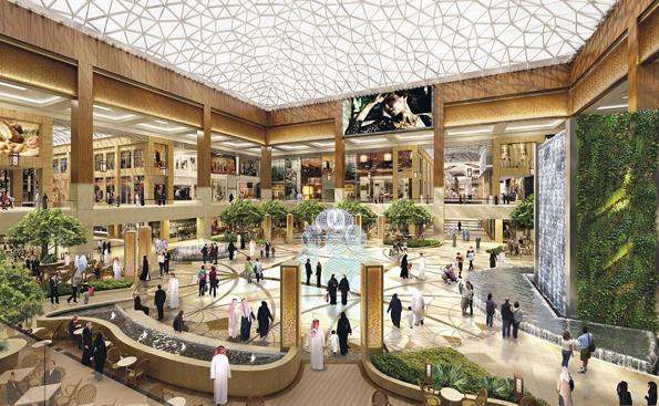 225.000 Quadratmeter Einkaufsvergnügen: Die Yas Mall, Abu Dhabis neuer Shopping-Tempel.
