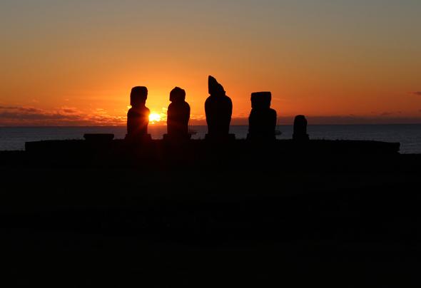 Gut 4.000 Kilometer vom chilenischen Festland gelegen: die Osterinsel. (Foto Claudia Huldi/Pixelio=