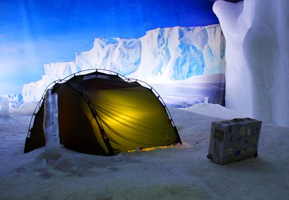 Die Antarktis liegt im Klimahaus in bremerhaven nur wenige Schritte vom entfernt. (Foto Ulrike Katrin Peters)