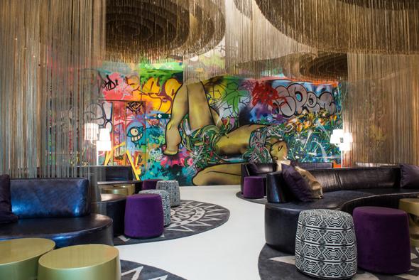 Hipp und modern: das neue W Hotel in Kolumbiens Kapitale Bogota. (Foto W Hotels)