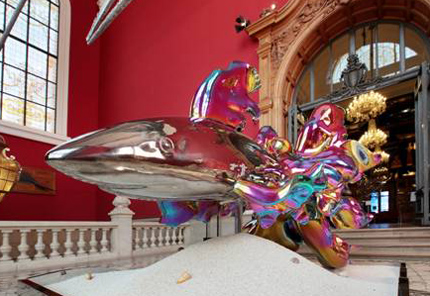 Neben Kunstobjekten sind im Ozeanographischen Museum auch lebende Hai zu bestaunen.