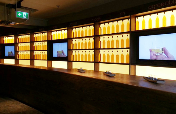 Multimedial bereitet das neue Museum Wissenswertes über den Whiskey auf.