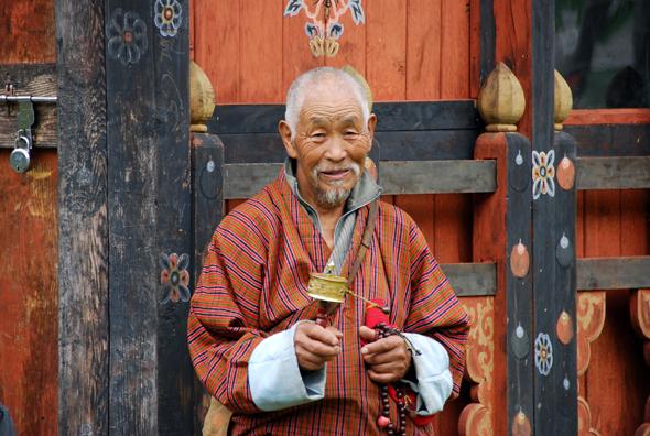 Bhutan ist vom buddhistischen Glauben geprägt. (Foto Katharina Hoyer/Pixelio)