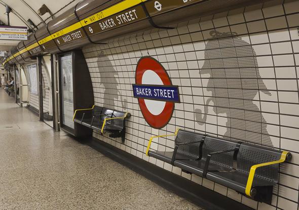 Die älteste U-Bahn-Station ist Baker Street, sie wurde 1863 für die Metropolitan Railway gebaut. (Foto κύριαsity)