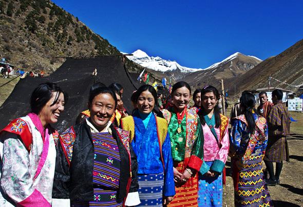 Äußerst stimmungsvoll: das  Jomolhari Festival( in Bhutan. (Foto Tourism Council of Bhutan)