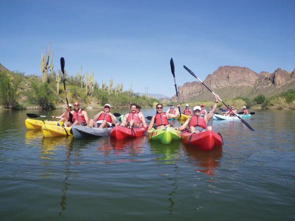 Wer es entspannter mag, kann in und um Scottsdale auch einfach zu einer Paddeltour starten.