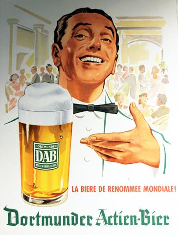 Plakate erinnern im Brauerei-Museum an die Sternstunden der Dortmunder Braukunst. (Foto Karsten-Thilo Raab)