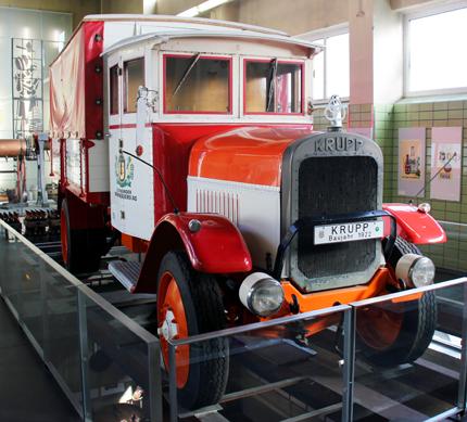 Eines der Prunkstücke des Brauerei-Museums: der Krupp'sche Lastwagen aus dem Jahre 1922. (Foto Karsten.-Thilo Raab)