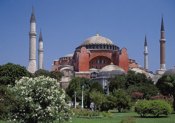 Prachtbau in Istanbul: die Hagia Sophia.