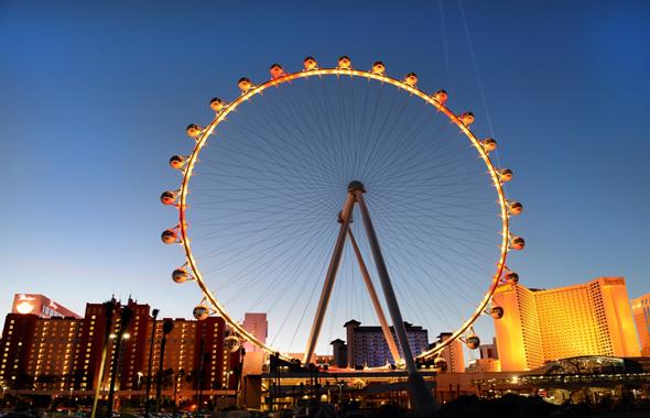 Eine der faszinierenden Landmarken in Las Vegas: der High Roller, das höchste Riesenrad der Welt. (Foto Brian Jones)