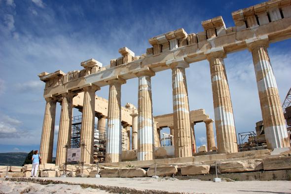 Jahrtausende alter Zeuge der griechischen Hochkultur: der PathenonTempel auf der Akropolis. (Foto Karsten-Thilo Raab)