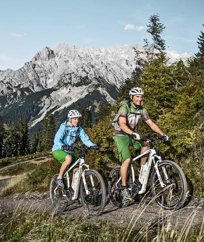 Auf Mountainbiker wartet grenzenloser Fahrspaß auf über 20.000 Höhenmetern.