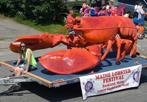 In Maine rollt der Hummer sogar durch die Straßen - zumindest beim Maine Lobster Festival (Foto Maine Lobster Festival)