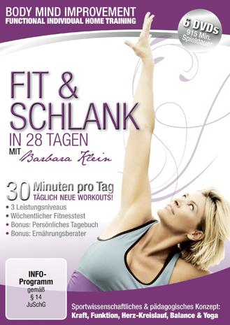 """Zweimal zu gewinnen: die DVD-Sammlung """"Fit & Schlank in 28 Tagen""""."""