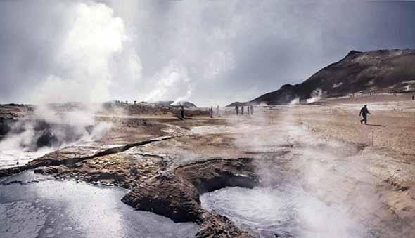 Dank der geothermischen Wärme finden sich überall auf Island natürliche Badestellen. (Foto Iceland Tourist Board)