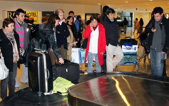 Trotz Kennzeichnung warten Fluggäste nach der Ankunft immer mal wieder vergebens auf ihren Koffer. (Foto Karsten-Thilo Raab)