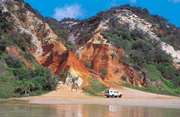 Ziel des Great Beach Drives ist das Weltnaturerbe Fraser Island.