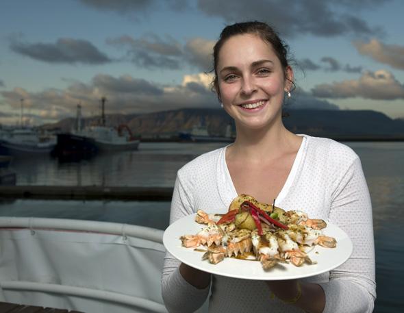 Frischer Fisch und Meeresfrüchte stehen ganz oben auf der Speisekarte der Isländer. (Foto Iceland Tourist Board)