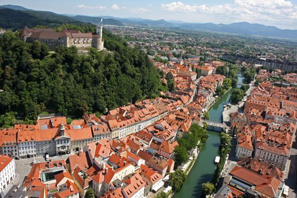 Sloweniens Hauptstadt Ljubljana wurde nun international geadelt und mit einem Preis für Nachhaltigkeit geehrt. (Foto P. Hieng)