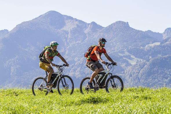 Auch Mountainbiker kommen im Chiemgau voll auf ihre Kosten. (Fotos Chiemgau Tourismus)