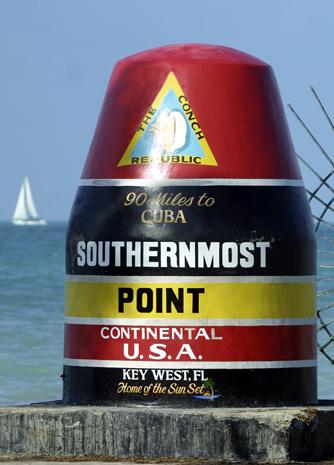 Von Key West bis Kuba sind es gerade einmal 80 Meilen. (Foto Rob O'Neal)