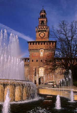 Prächtiger Stadtpalast: das Castello Sforzesco. (Foto ENIT)