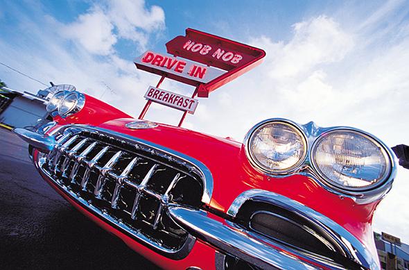 Selbst Fast Food hat in Sarasota Stil wie hier das Hob Nob Drive-In.