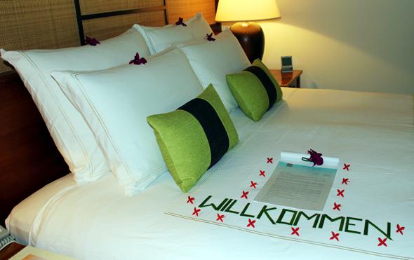 In Luxusunterkünften - wie hier im Kanuhura Resort auf den Malediven - wird nichts dem Zufall überlassen. (Foto Karsten-Thilo Raab)