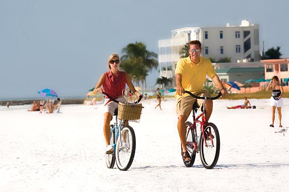 Auch Radfahrer kommen in und um Sarasota - wie hier am Siesta Key - voll auf ihre Kosten.