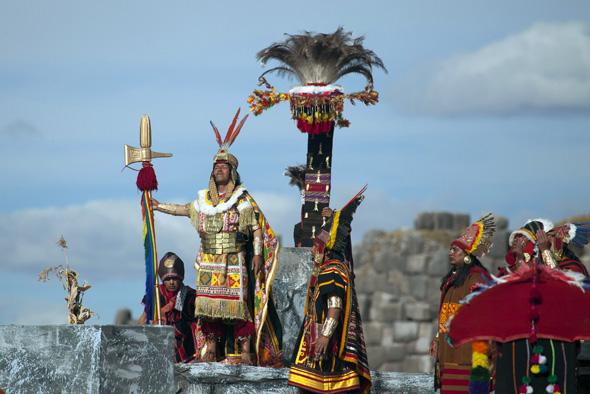 Immer ein großes Spekatakel: das Inti Raymi, das berühmte Sonnenwendfeet der Inka in Peru.