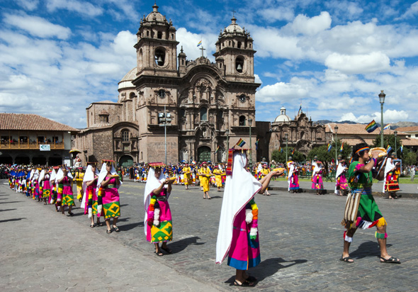 Znetrum der Inti Raymi Feierlichkeiten ist Cusco.