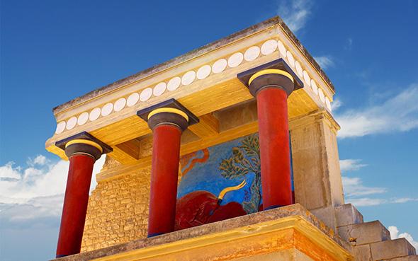 Einer der vielen magischen und gecshichtsträchtigen Orte auf Kreta: die antike Palastanlage von Knossos.