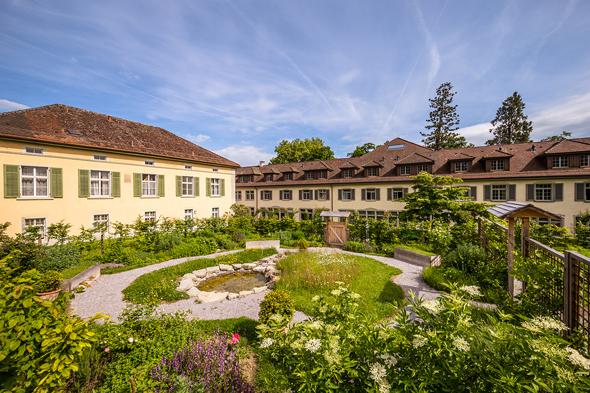 Garten nach mittelalterlichem Vorbild auf dem Arenenberg.