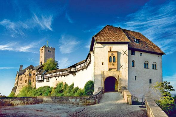 Das Weltkulturerbe Wartburg thront hoch über Eisenach. (Foto: Anna-Lena Thamm)