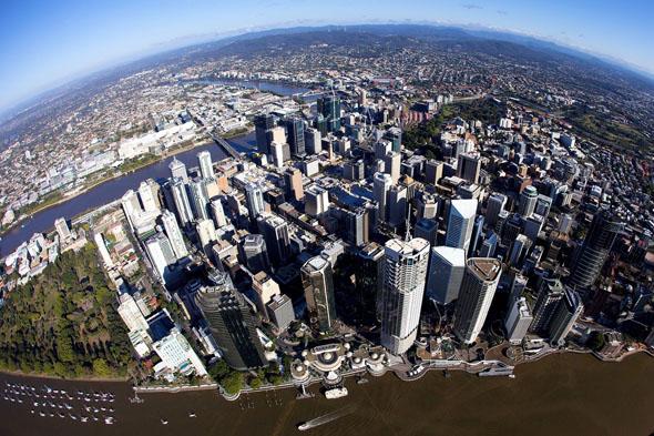 Brisbane ist nicht nur aus der Vogelperspektive überaus faszinierend.