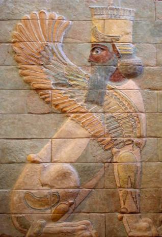 Einer der vielen archäologischen Funde in Susa: Geflügelter Sphinx aus dem Palast Darius des Großen. (Foto Jastrow)