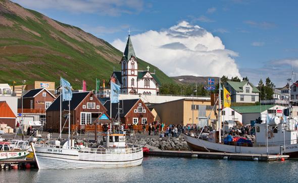Im nordisländischen Husavik wird an das Mond-Training amerikanischen Astronauten vor einem halben Jahrhundert erinnert. (Foto Ragnar Th.Sigurdsson)