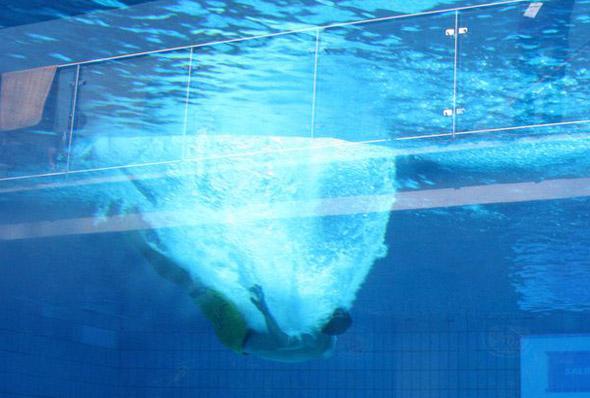 Der Blick unter Wasser bleibt den meisten Zuschauern bei der WM verwährt. (Fotos Splashdiving.com)