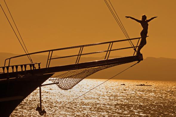 Der Golf von Aqaba ist gleichermaßen ein Traum für Segler und Badegäste.