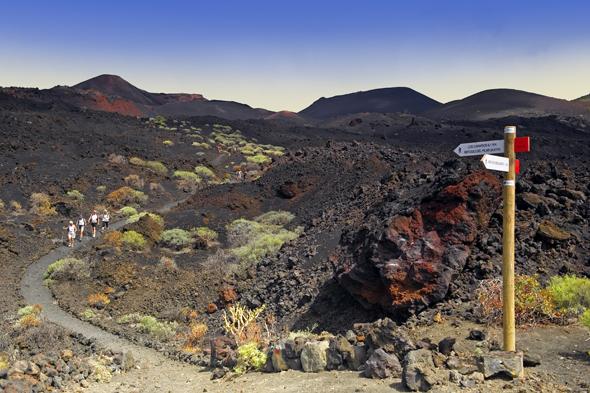 Ein Stück unberührter Natur auf La Palma: das Monumento Natural Volcanes de Tenegui. (Foto Promotur Turismo Canarias)