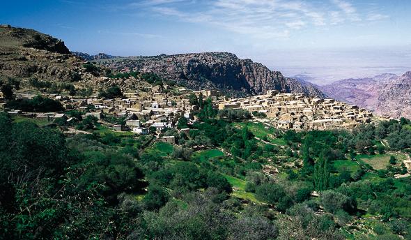 Überraschend grün und äußerst reizvoll: Dana in Jordanien.