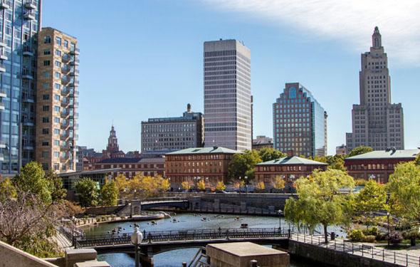 Die Skyline von Providence im US-Bundesstaat Rhode Island ( Foto Providence Warwick CVB)