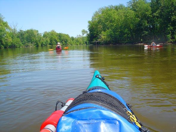Auch mit dem Kanu lässt sich der Mississippi im US-Bundesstaat Illionois erkunden.