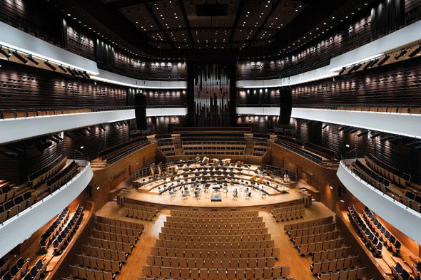 Das Nationale Musikforum bietet mehr als 1.800 Musikliebhabern Platz. (Foto Lukaz Rajchert)