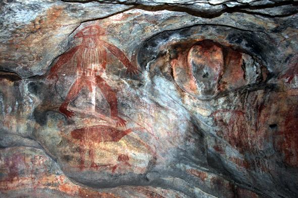 Die Höhlenmalereien der Aborigines sind auch nach vielen Jahrhunderten noch zu bestaunen. (Foto Karsten-Thilo Raab)