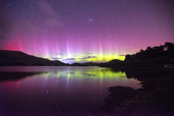 Eines der Naturphänomene, die sich in Neuseeland beobachten lassen: die Aurora Australis.