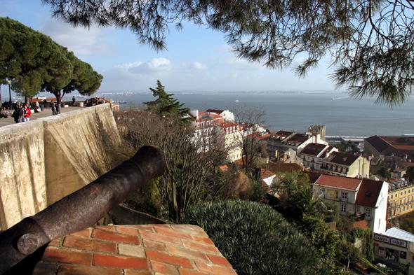 Blick auf Baixa und den Tejo vom Castelo de Sao Jorge. (Foto Karsten-Thilo Raab)