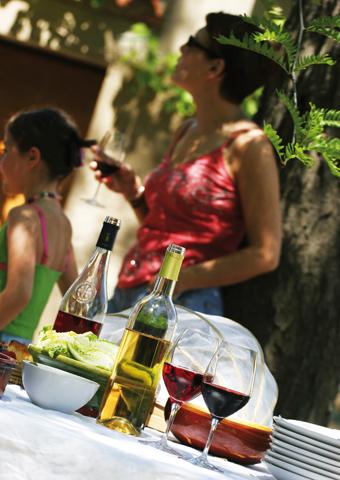 Zum Genuss auf den Kanälen und Flüssen in Burgund gehört auf jeden Fall auch das eine oder andere gepflegte Glas Wein. (Foto C. G. Deschamps)