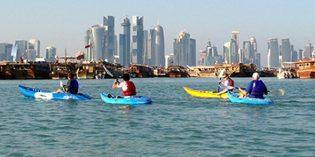 Paddelvergnügen in den Mangroven von Katar